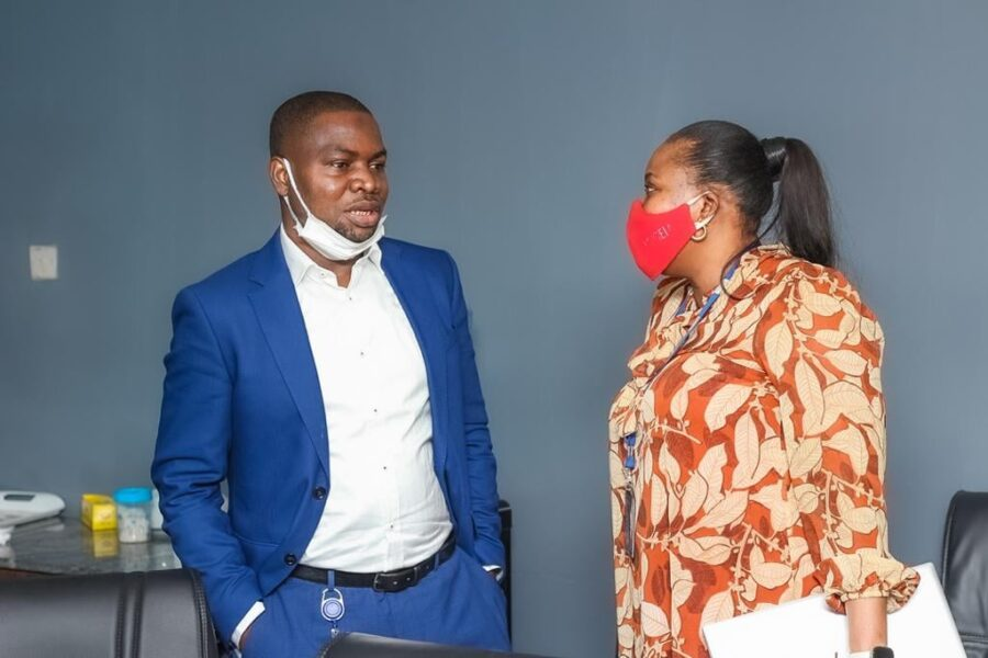 Chief Operating Officer, Loqman Salam - Alada and Chief Marketing Officer Ms Toyin Showunmi
